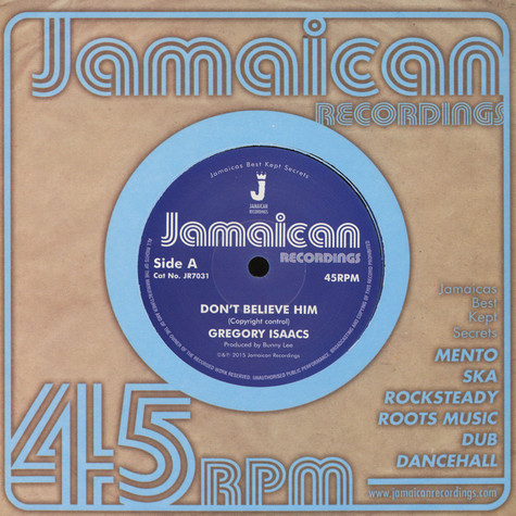 Gregory Isaacs - Don't Believe Him / The Village