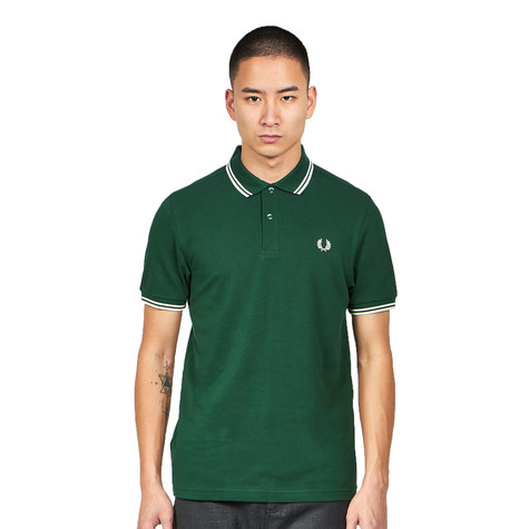 Fred Perry - Twin Tipped Fred Perry Polo Shirt (Ivy / Snow ...