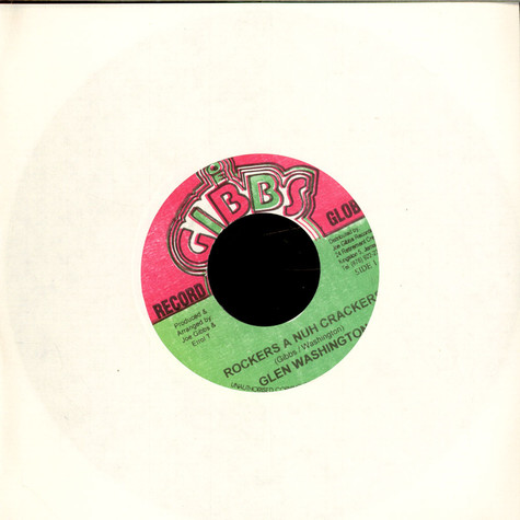 Glen Washington - Rockers A Nuh Crackers / Rockers Dubwise