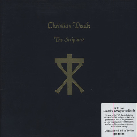 Christian Death - The Scriptures Gold Vinyl Edition