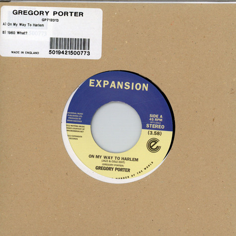 Gregory Porter - On My Way To Harlem / 1960 What