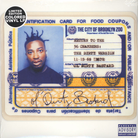 Ol' Dirty Bastard - Return To The 36 Chambers Yellow & Blue Vinyl Edition