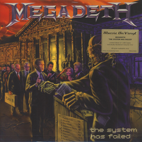 Megadeth - The System Has Failed Orange Vinyl Edition