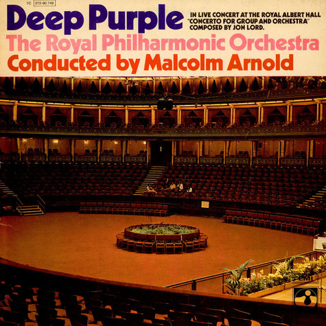 Deep Purple, The Royal Philharmonic Orchestra Contucted By Malcolm Arnold - Concerto For Group And Orchestra