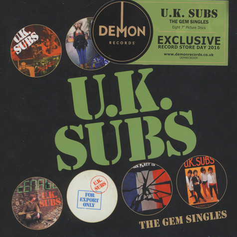 UK Subs - The Gem Singles Box