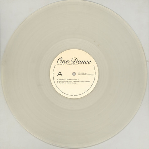 Drake - One Dance Clear Vinyl Edition