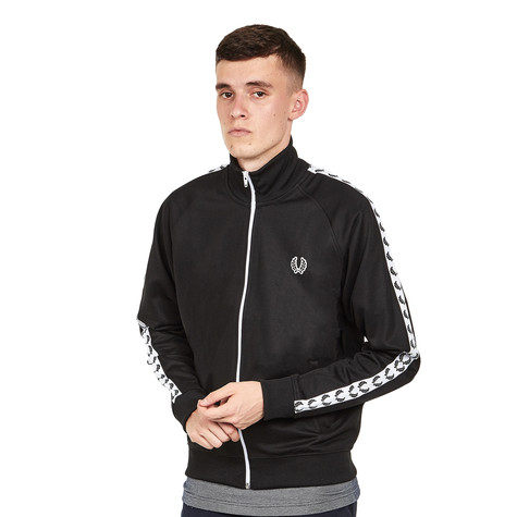 c12fdcf6c Fred Perry - Laurel Wreath Taped Track Jacket (Black)