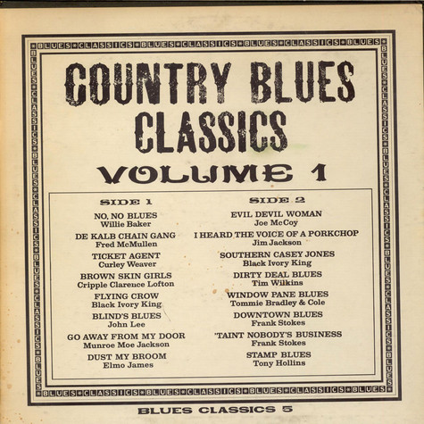 V.A. - Country Blues Classics Volume 1