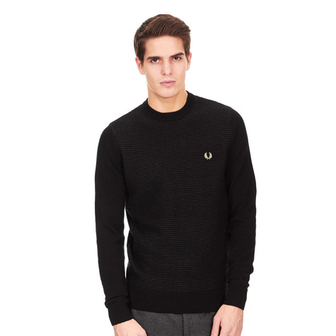 Fred Perry - Textured Stripe Crewneck Sweater