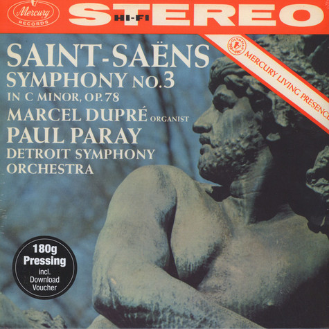 Saint-Saens / Dupre / Paray / Detroit Symphony Orchestra - Symphony No 3 In C Minor Op 78 - Organ