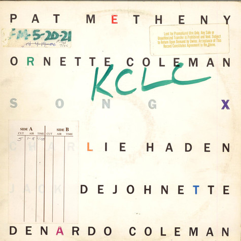 Pat Metheny / Ornette Coleman - Song X
