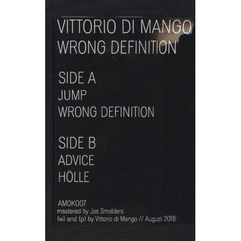 Vittorio Di Mango - Wrong Definition
