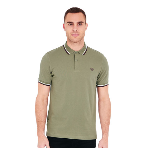84ce1435 Fred Perry - Twin Tipped Fred Perry Polo Shirt___ALT (Olive / Ecru ...