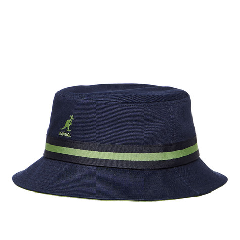 151a99b54d9 Kangol - Stripe Lahinch Bucket Hat (Navy)