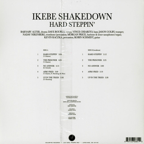 Ikebe Shakedown - Hard Steppin' EP Black Vinyl Edition