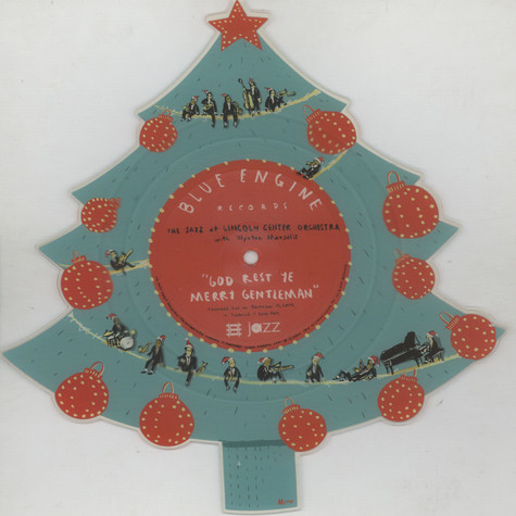 Jazz At Lincoln Center Orchestra with Wynton Marsalis, The - God Rest Ye Merry Gentlemen / Little Drummer Boy Christmas Tree-Shaped Colored Vinyl Edition