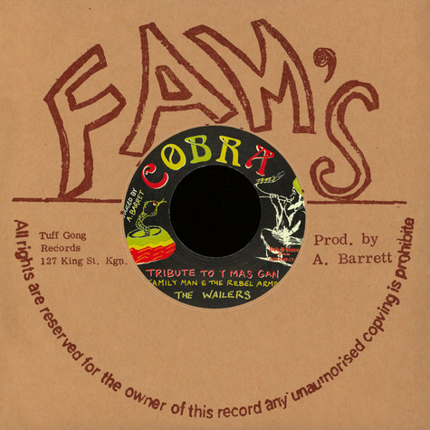 Family Man Barrett / Rebel Arms, The / Wailers, The - Tribute To Y Mas Gan / Steppers Rock