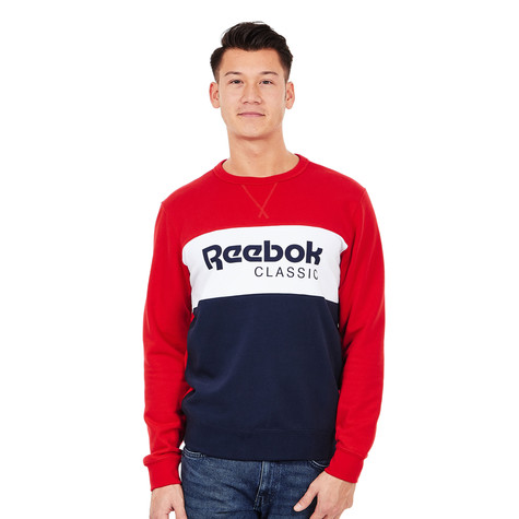 0d0b9a82d66 Reebok - Archive Stripe Crew Sweater (Primal Red)