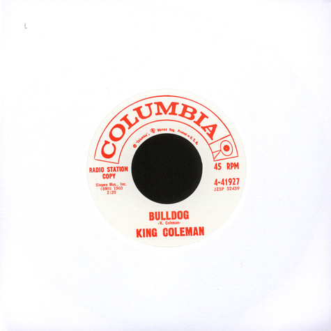 King Coleman - Bulldog / Black Bottom Blues
