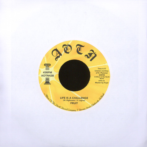 Fruit - What You Gonna Do / Life Is a Challenge