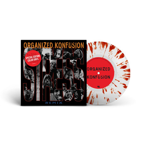 Organized Konfusion - Stress Large Pro Remix Splatter Vinyl Edition