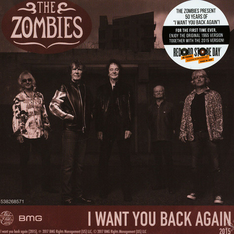 Zombies, The - I Want You Back Again