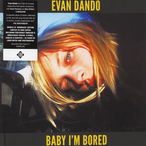 Evan Dando - Baby I'm Bored Black Vinyl Edition
