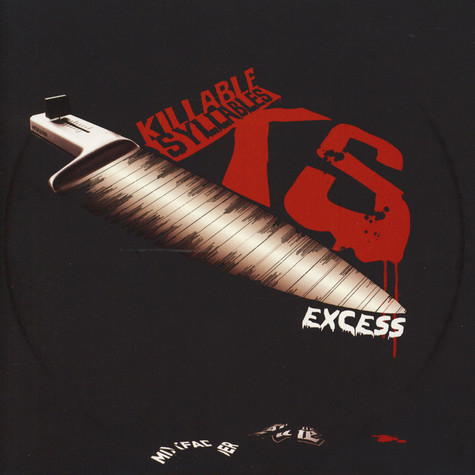 DJ Excess - Killable Syllables Red Vinyl Edition