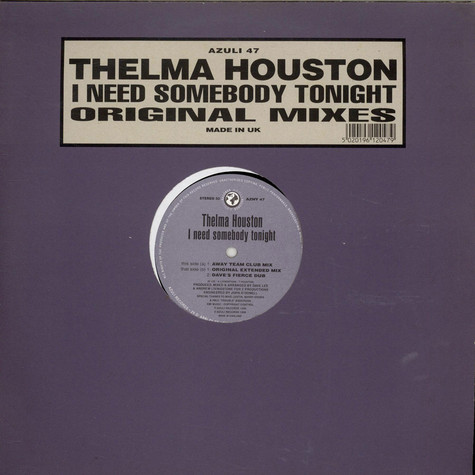 Thelma Houston - I Need Somebody Tonight (Original Mixes)