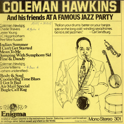 Coleman Hawkins - Coleman Hawkins And His Friends At A Famous Jazz Party