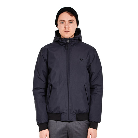 Fred Perry - Quilted Hooded Brentham Jacket. Other available colors.  Graphite