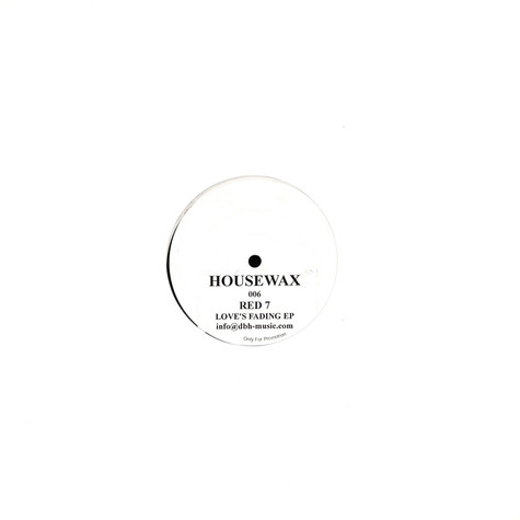 Red 7 (Neville Watson & Nick Woolfson) - Love's Fading EP