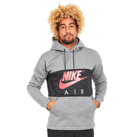 Nike - Air Hoodie (Carbon Heather   Anthracite   Siren Red)   HHV 5035fc30726b