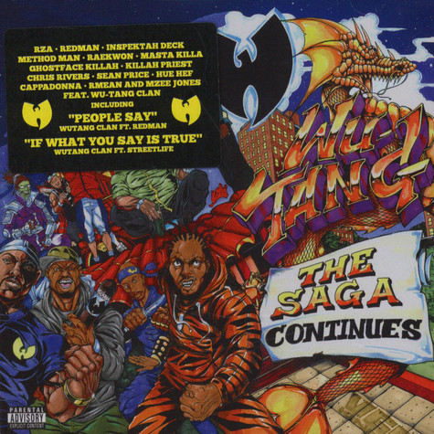 Wu Tang Clan The Saga Continues Cd 2017 Eu