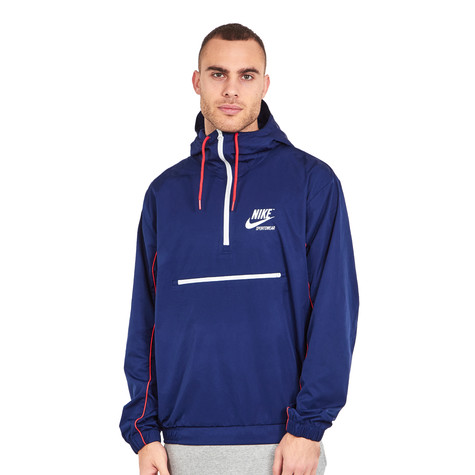 3fb24955fb84 Nike - NSW Jacket Hoodie Woven Archive (Binary Blue   University Red ...