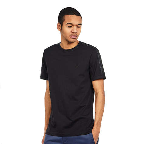 1ffe0b97c Fred Perry - Tonal Taped Ringer T-Shirt (Black)