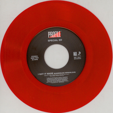 Special Ed - I Got It Made Red Vinyl Edition