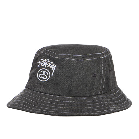 502fa9d5d20 Stüssy - Washed Stock Lock Bucket Hat (Black)