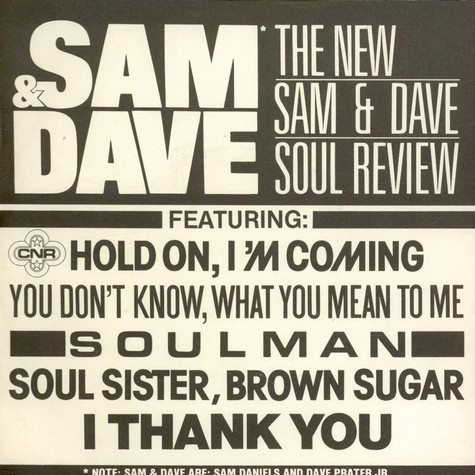 The New Sam & Dave - The New Sam & Dave Soul Review