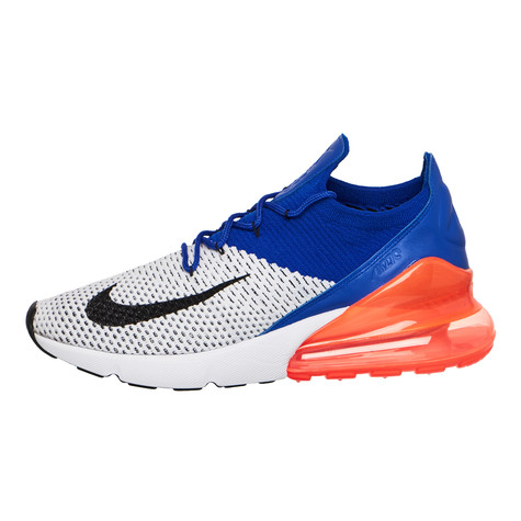 7b0b8bba03 Nike - Air Max 270 Flyknit (White / Black / Racer Blue / Total ...