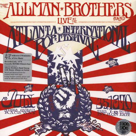 Allman Brothers Band, The - Live At The Atlanta International Pop Festival July 3 & 5, 1970