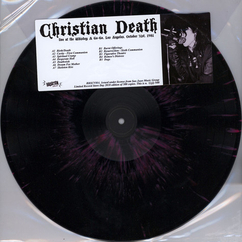 Christian Death - Live At The Whisky A Go Go Los Angeles October 31