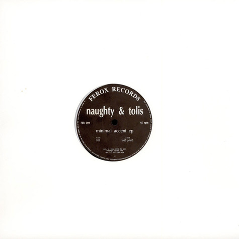 Naughty & Tolis - Minimal Accent EP