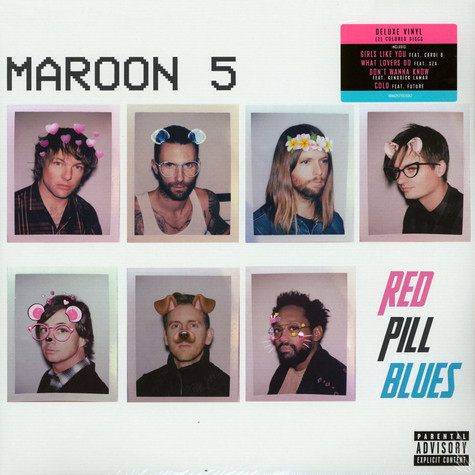Maroon 5 - Red Pill Blues Colored Vinyl Tour Edition
