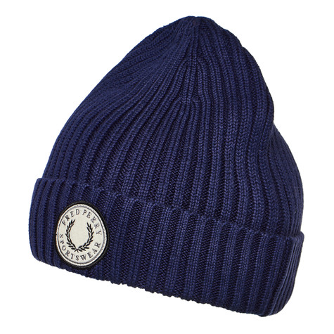 2b0a8655bf3 Fred Perry - Ribbed Cotton Beanie (Carbon Blue)