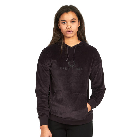 Fred Perry - Embroidered Velour Hooded Sweatshirt