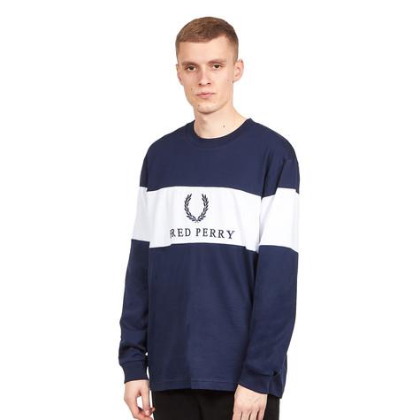 8a0a4c53 Fred Perry - Contrast Panel Sweatshirt (White) | HHV