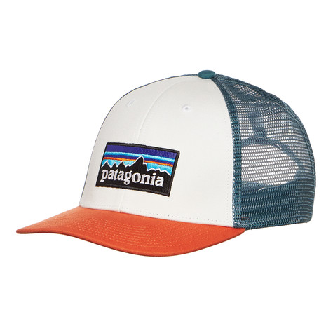 b89f435c5a1 Patagonia - P-6 Logo LoPro Trucker Hat (White W  Sunset Orange)