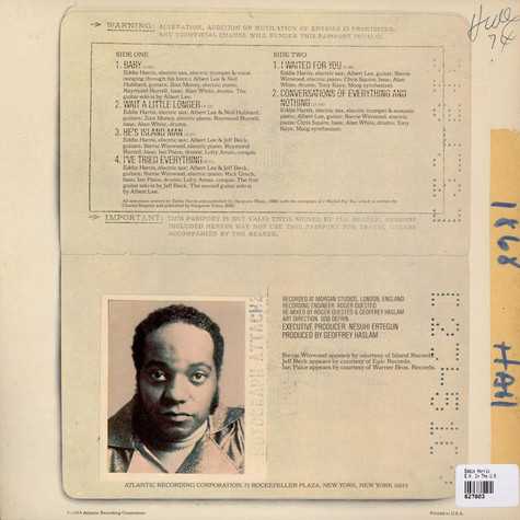 Eddie Harris - E.H. In The U.K.