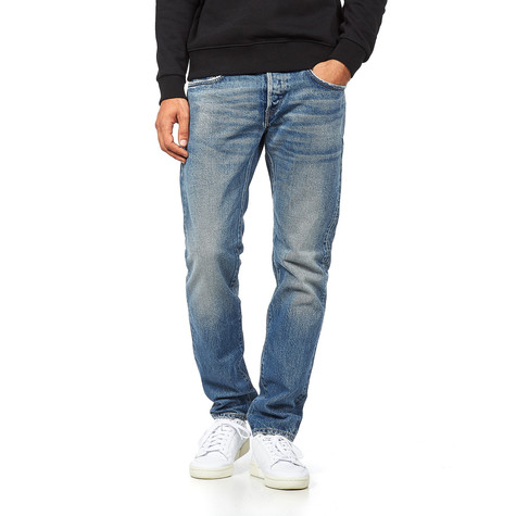 Edwin - Regular Tapered Jeans Kaihara, Brown Cotton, Rainbow Selvage, 14 oz